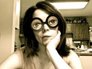 Jenny in funny glasses