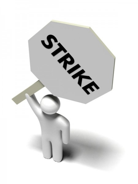 Little man on strike