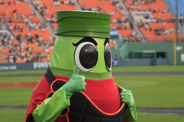 Green mascot