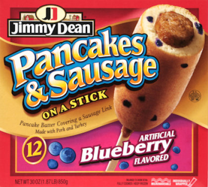 Jimmy Dean Blueberry Pancake and Sausage on a Stick