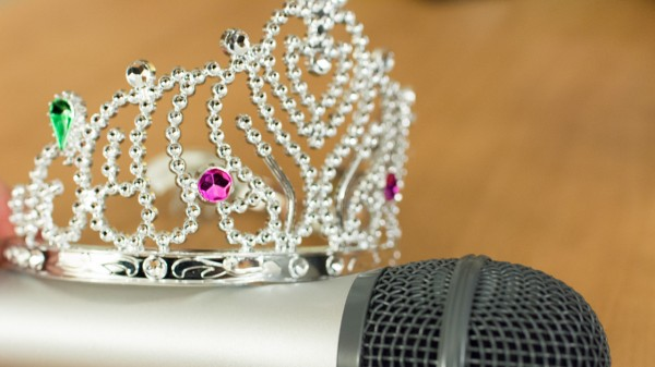 Microphone and Tiara-clean comedy podcast 149