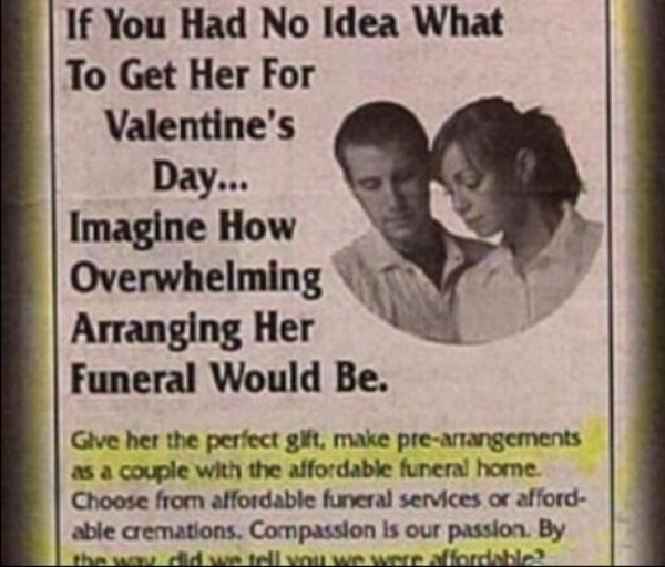 Valentine's Day affordable funeral home