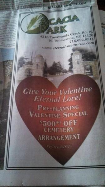 Valentine's Day cemetery special